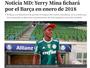 Jornal catalão diz que Mina jogará no Barça a partir de janeiro de 2018