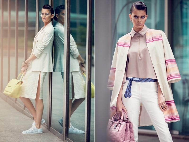 Blazers sequinhos e saia lápis fazem toda a diferença no look de verão  (Foto: Karine Basílio/Styling: Fernanda Ary)