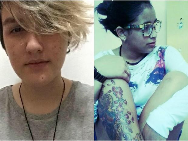 Hanna Júlia, à esquerda, e Itamila Souza, à direita, foram encontradas feridas com tiros dentro de apartamento em Cruzeiro do Sul (Foto: Reprodução/Facebook)