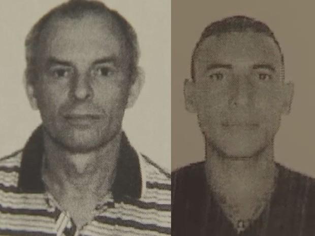 A vítima Armando de Souza Neto (à esquerda) veio ao litoral com o suspeito Alexandre Marcelino Pereira (à direita) (Foto: G1)