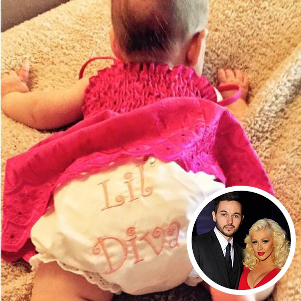 Filha de Christina Aguilera com Matt Rutler (Foto: Twitter / Getty Images)
