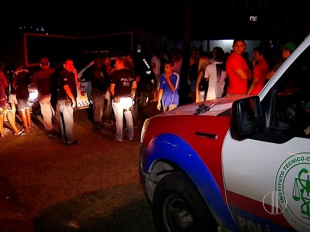 Crime aconteceu na comunidade da Guarita, no bairro do Alecrim, em Natal (Foto: Reprodução/Inter TV Cabugi)