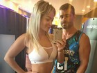Laura Keller faz pose com o marido na academia: 'Fim de treino'