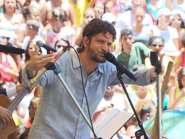 saulo; show do parque da cidade (Foto: Imagens / TV Bahia)