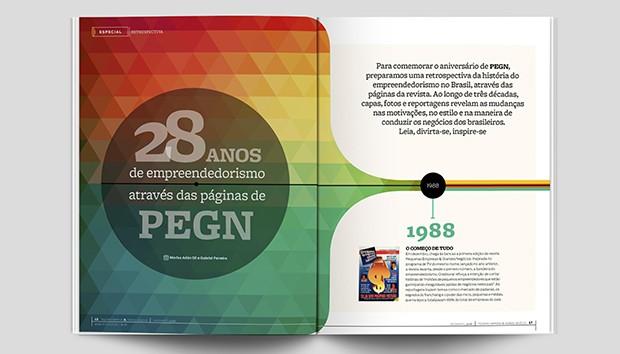 Matéria faz retrospectiva do empreendedorismo no Brasil e na revista Pequenas Empresas & Grandes Negócios (Foto: PEGN)