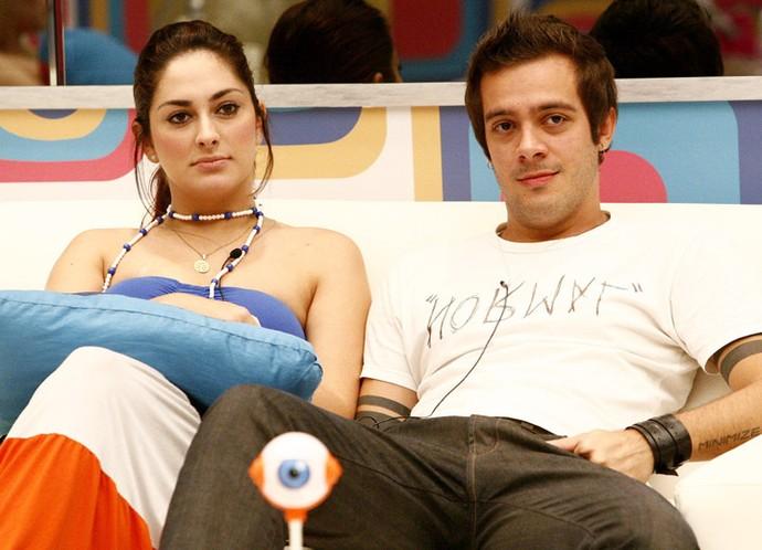 Francine e Max começaram um romance dentro do BBB9, e se separaram em julho de 2009 (Foto: Fabrício Mota/TV Globo)