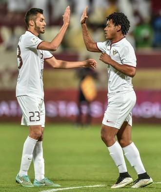Romarinho festeja gol pelo El Jaish (Foto: Divulgação)