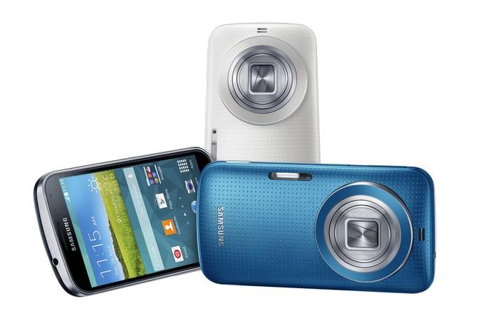 Galaxy K Zoom é o novo smartphone da Samsung voltado para fotografias com câmera de 20,7 megapixels (Foto: Divulgação/Samsung)