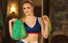 Cheerleader? Megan vai causar! (Foto: Geração Brasil / TV Globo)