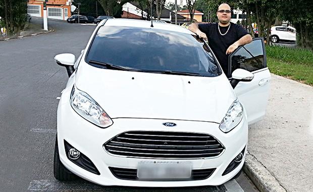 Felipe Terra é dono de um Ford New Fiesta (Foto: Arquivo Pessoal)
