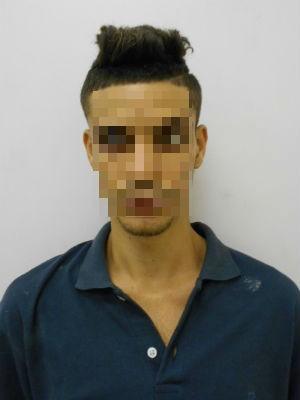Suspeito de executar jovem, Diego foi preso com carro roubado em Salvador (Foto: Divulgação/Polícia Civil)