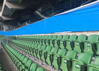Propagandas no estádio do Palmeiras são cobertas (Foto: Divulgação)