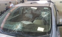 Carro da PM é apedrejado (Divulgação/Polícia Militar)