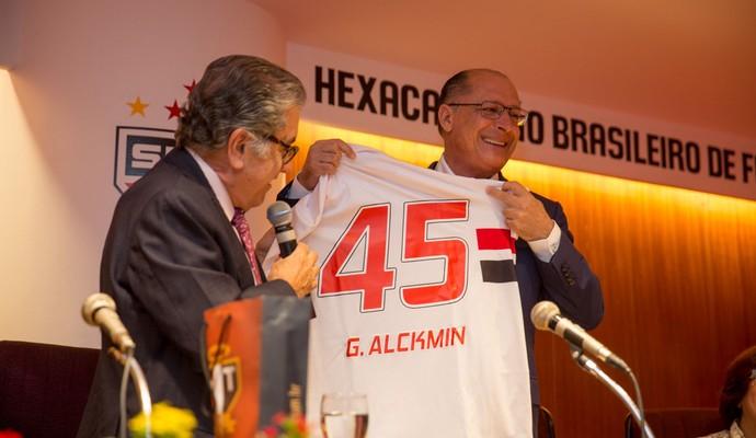 Alckmin Aidar São Paulo Futebol (Foto: Igor Amorim/São Paulo FC)