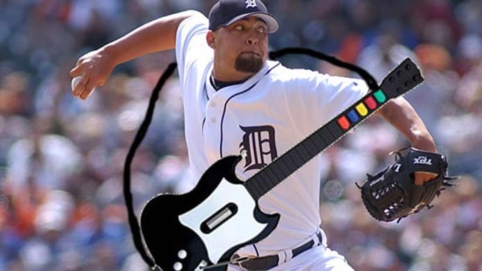 Jogador de baseball Joel Zumaya ficou fora de uma temporada por causa de Guitar Hero (Foto: Reprodução/UmpBump)
