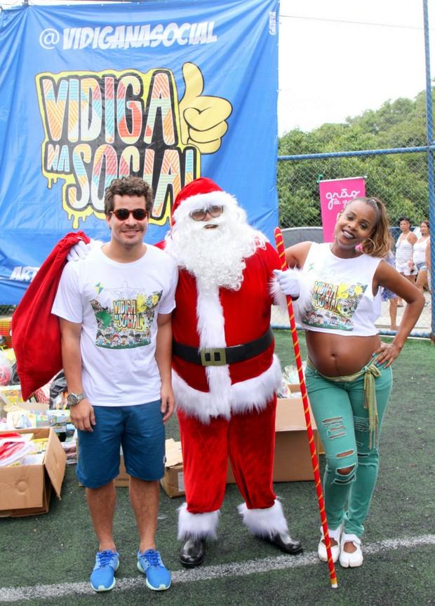 Roberta Rodrigues e Thiago Martins (Foto: Delson Silva dos Santos / AgNews)