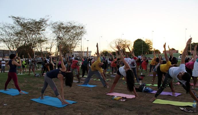 Aulão de yoga  (Foto: Katylenin França/Gshow)