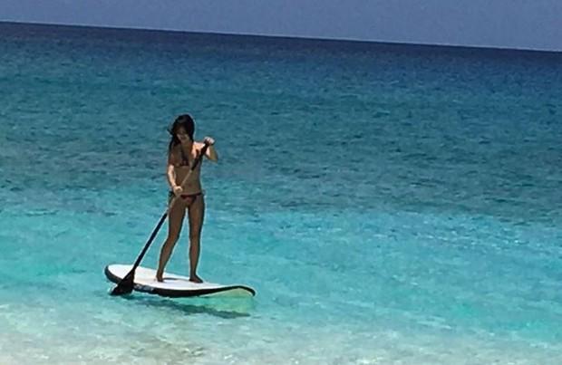 Fábio Assunção compartilha foto da namorada, Pally Siqueira, no Caribe (Foto: Reprodução/Instagram)