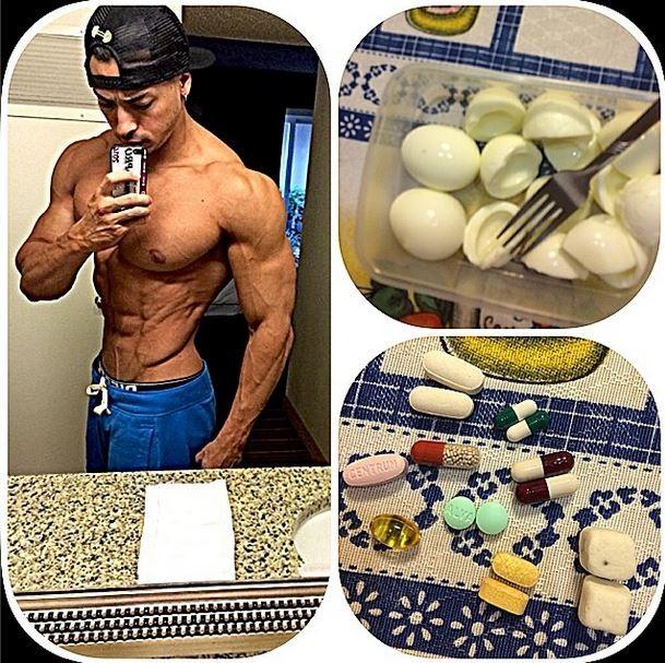 Felipe Franco mostra seu café da manhã (Foto: Instagram/Reprodução ...