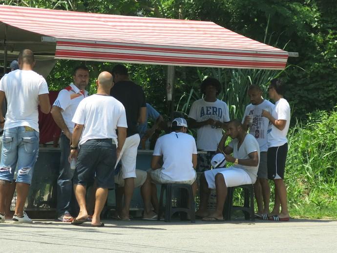 vasco confraternização barraquinha (Foto: Edgard Maciel de Sá)