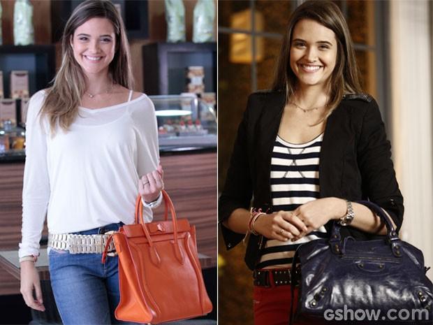 As bolsas de Lili se destacavam na produção da loirinha  (Foto: Além do Horizonte / TV Globo)