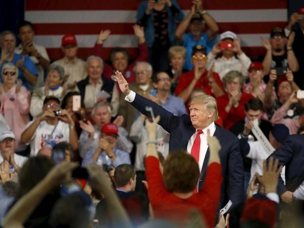 Donald Trump lidera pesquisas entre republicanos, mas pode não ser suficiente para ser indicado  (Foto: REUTERS/Christopher Aluka Berry)