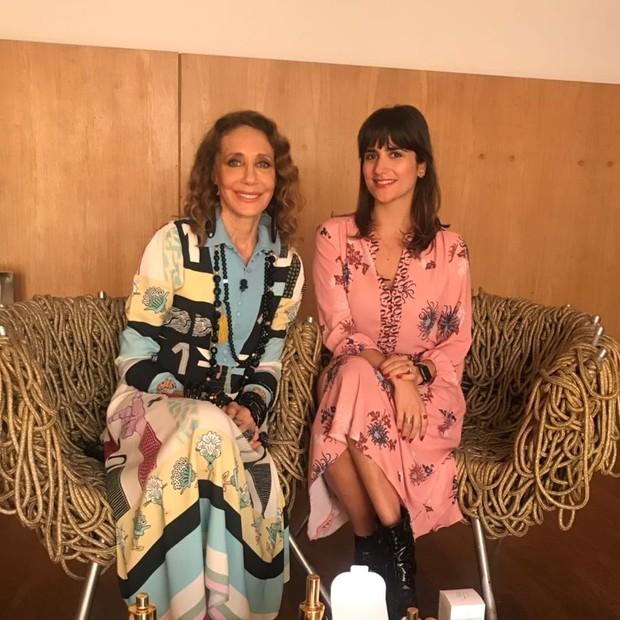 Marisa Berenson e Luiza Souza (Foto: Divulgação)