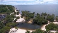 Pindobal e a calmaria da praia sem ondas do município de Belterra