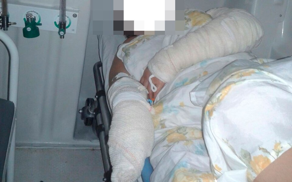 Vítima recebeu atendimento e o estado de saúde dela é desconhecido (Foto: Divulgação/Polícia Civil)