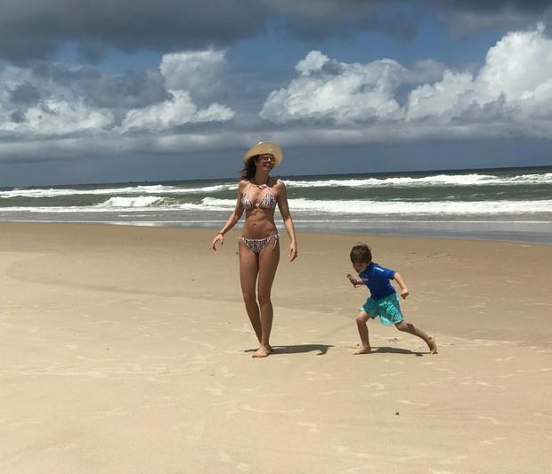 Luciana Gimenez com o filho (Foto: Reprodução)