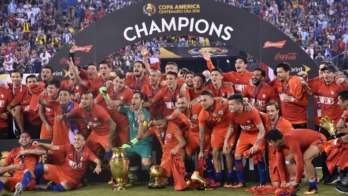 Chile campeão Copa America Centenario (Foto: AFP)
