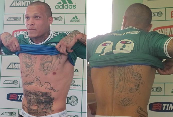 frança palmeiras tatuagem (Foto: Marcelo Hazan)