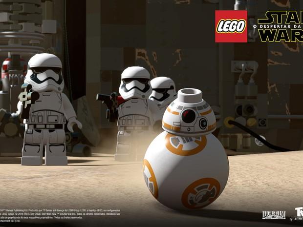 Droid BB-8 também aparece em 'Lego Star Wars: O despertar da força' (Foto: Divulgação/Warner Bros. Games)
