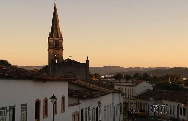 Cidade de Goiás durante o Fica 2015 (Foto: Reprodução/TV Anhanguera)