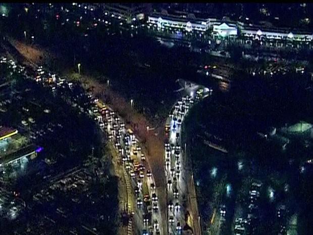 Imagens aéreas do local do acidente (Foto: Reprodução/GloboNews)