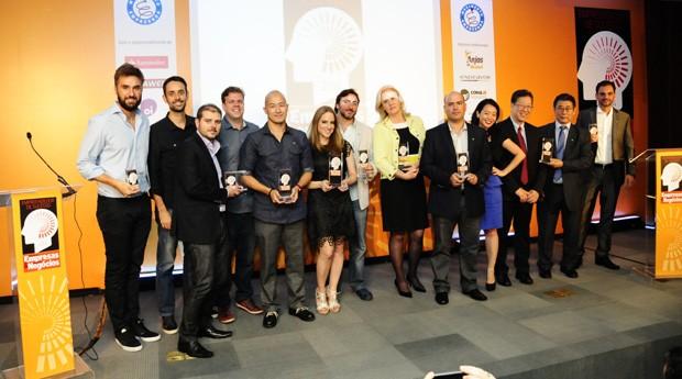Os grandes vencedores do Prêmio Empreendedor de Sucesso 2014 (Foto: Sylvia Gosztonyi)