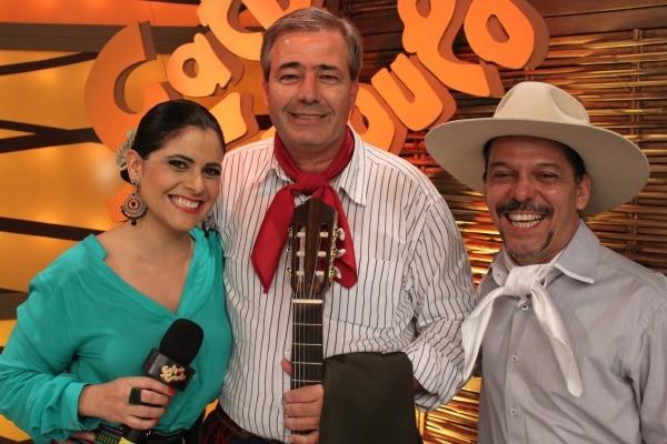 Shana Müller e Neto Fagundes (Foto: Verônica De Giacomo/RBS TV)
