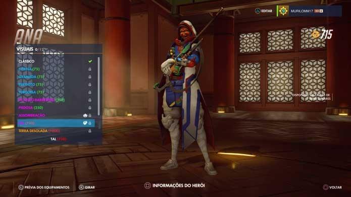 Personagem ganhou sua primeira skin temática em Overwatch (Foto: Reprodução/Murilo Molina)