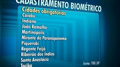 Eleitores da região devem realizar cadastramento biométrico
