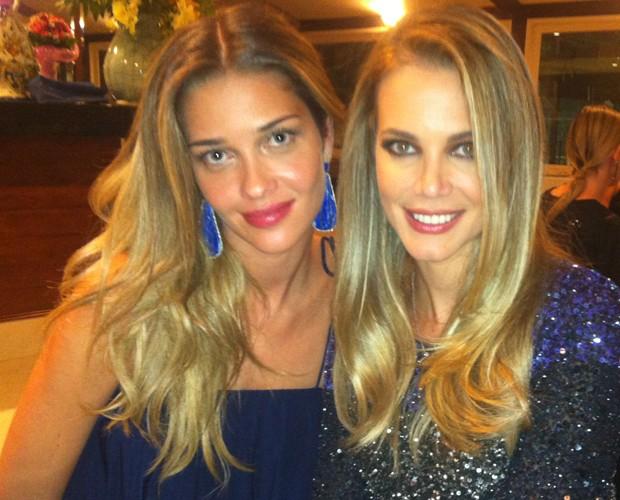 Ana Beatriz Barros e Claudia Helena Swarowsky (Foto: Domingão do Faustão / TV Globo)