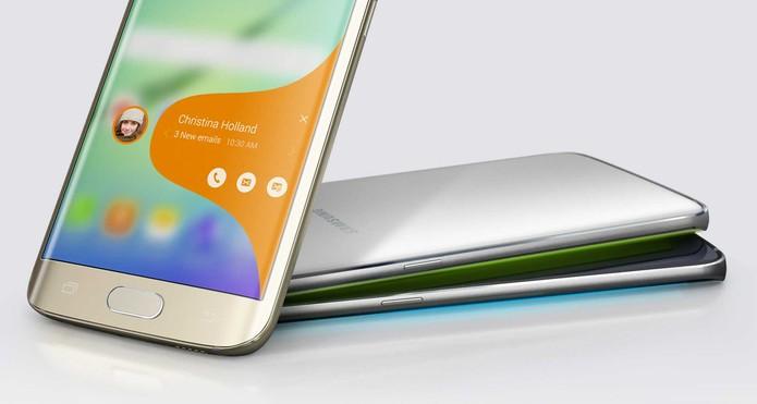 Galaxy S6 Edg possui diversos atalhos através da borda curva da tela (Foto: Divulgação/Samsung)