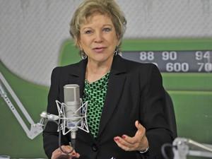 A ministra Marta Suplicy, da Cultura, durante entrevista ao programa 'Bom Dia, Ministro' (Foto: Elza Fiúza / Agência Brasil)
