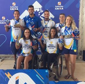 Atletas natação paralímpica praia clube circuito paralímpico (Foto: Alexandre Vieira/Arquivo Pessoal)