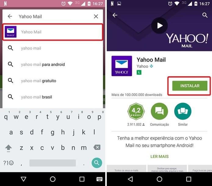 Instalando o Yahoo Mail (Foto: Reprodução/Helito Bijora)