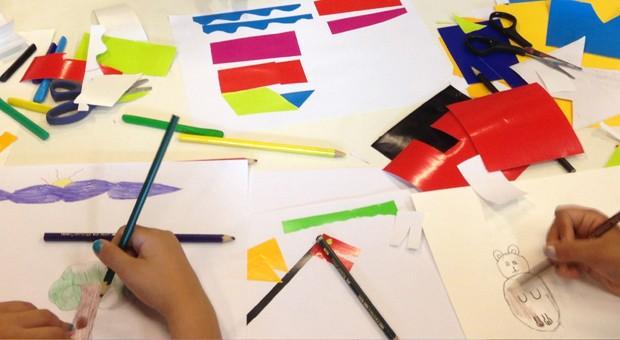 As crianças terão contato com várias técnicas artísticas (Foto: Divulgação)