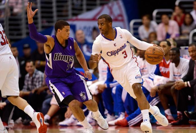 Chris Paul Ray Mc Callum los angeles Clippers x sacramento Kings (Foto: Reuters)