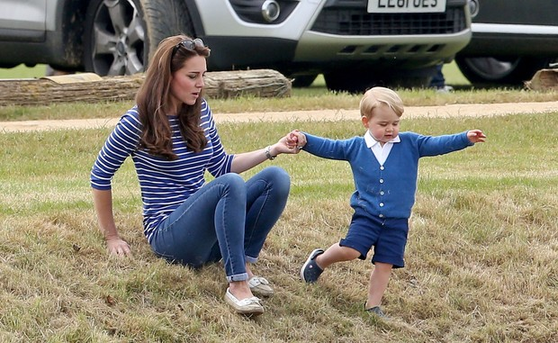 Kate Middleton com Príncipe George (Foto: Getty Images)