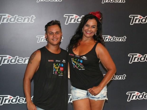 Solange Couto e o marido, Jamerson Andrade (Foto: Denilson Santos/ Ag. News)