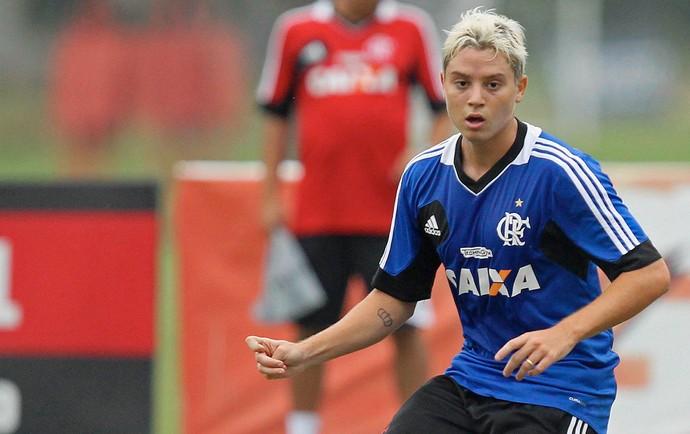 Adryan Flamengo treino (Foto: André Luiz Melo / Ag. Estado)