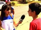 'Jornalista Mirim' entrevista crianças do condomínio em que mora em GO